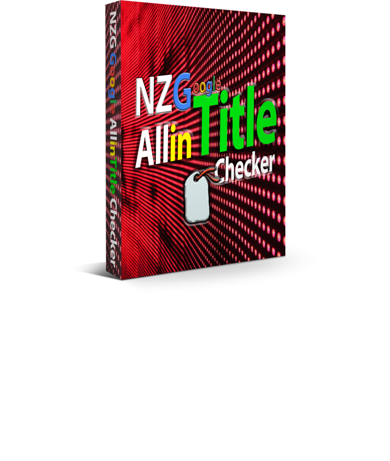 NZG Google Allintitle Checker
